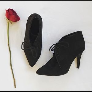Black High Heeled Ankle Boots